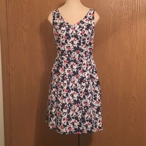 Tommy Hilfiger Navy & Red Sleeveless Dress